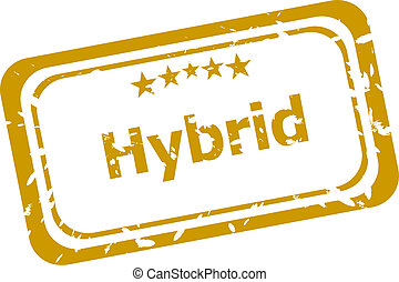 grunge, postzegel, hybride, vrijstaand, rubber, witte