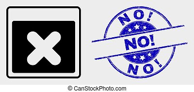 grunge, postzegel, no!, toepassing, venster, vector, ...
