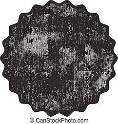 grunge, postzegel, rubber, zwarte achtergrond, witte
