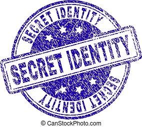 grunge, postzegel, textured, geheim, zeehondje, identiteit