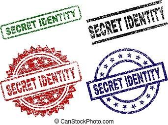 grunge, postzegel, zegels, geheim, textured, identiteit