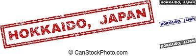 grunge, postzegel, zegels, textured, hokkaido, japan,...