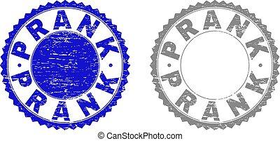 Grunge PRANK Textured Watermarks - Grunge PRANK stamp seals...