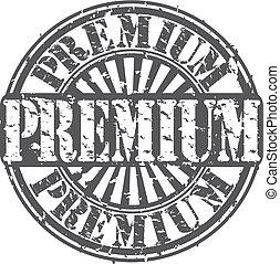 Grunge premium rubber stamp, vector