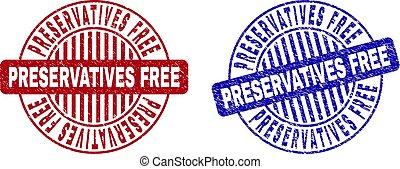 Grunge PRESERVATIVES FREE Textured Round Stamp Seals