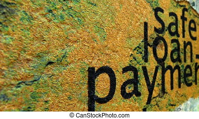 grunge, prestito, concetto, sicuro, pagamento