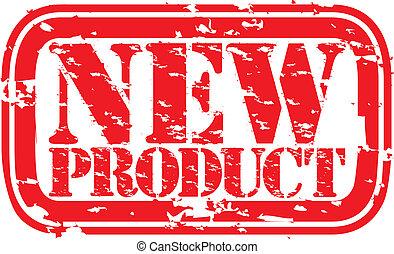 grunge, producto nuevo, sello de goma, ve