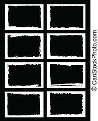 grunge, profili di fodera, immagine, photo., o, cornici, vettore, format.