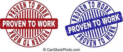 Grunge PROVEN TO WORK Scratched Round Stamp Seals