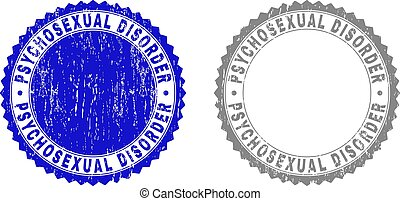 Grunge PSYCHOSEXUAL DISORDER Textured Stamps