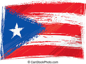 Grunge Puerto Rico flag - Puerto Rico national flag created...