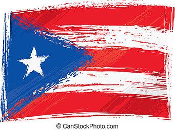 Grunge Puerto Rico flag - Puerto Rico national flag created...