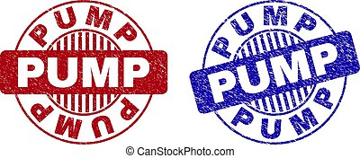 Grunge PUMP Textured Round Watermarks