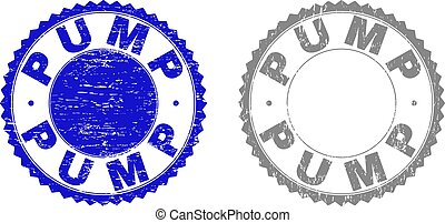 Grunge PUMP Textured Stamp Seals