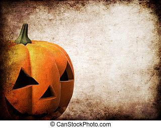 grunge pumpkin - 3d rendered illustration of a halloween ...