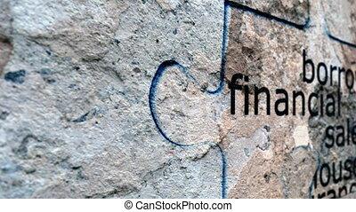 grunge, puzzle finanziario