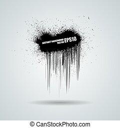 grunge, résumé, arrière-plan., vecteur, noir, bannière