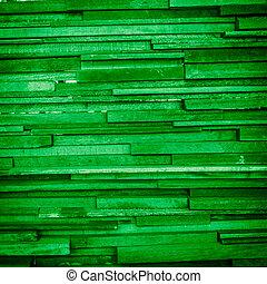 grunge, résumé, bois, arrière-plan vert