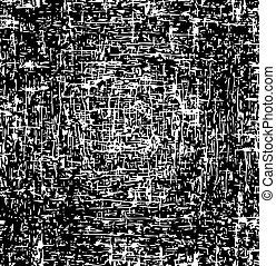 grunge, résumé, texture, arrière-plan., vecteur, noir, blanc