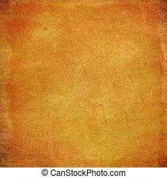 grunge, résumé, texture, papier, fond jaune, ou
