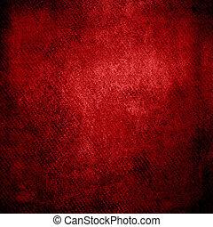 grunge, résumé, texture, papier, fond, ou, rouges