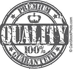 grunge, r, prêmio, qualidade, guaranteed