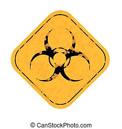 Grunge Radiation hazard symbol sign