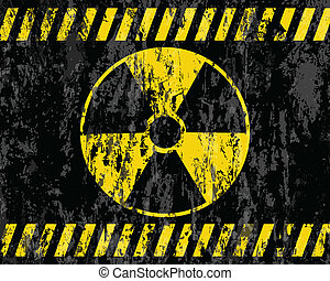 grunge, radiazione, fondo, segno