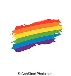 Grunge rainbow flag