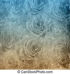 grunge, raum, rose, textured, hintergrund, text