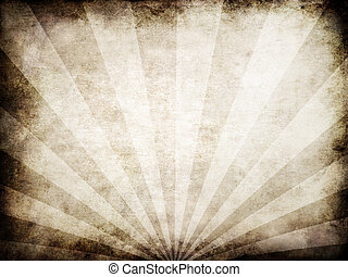 grunge rays - 3d rendered illustration of an old paper ...
