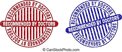 Grunge RECOMMENDED BY DOCTORS Textured Round Stamps