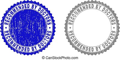 Grunge RECOMMENDED BY DOCTORS Textured Watermarks