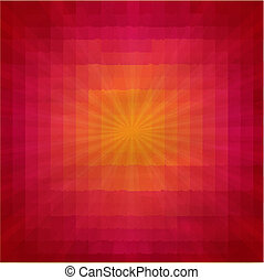 Grunge Red And Orange Texture With Sunburst