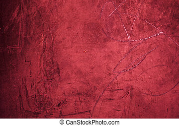 Grunge red background texture close up - Old Grungy red wall...