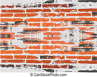 grunge red brick background