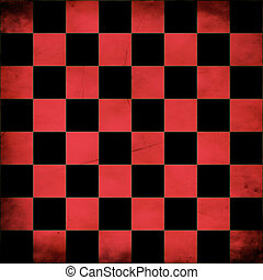 Grunge red checker board - Illustration of grunge red...
