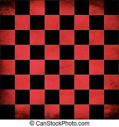 Grunge red checker board