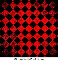 grunge red checkered