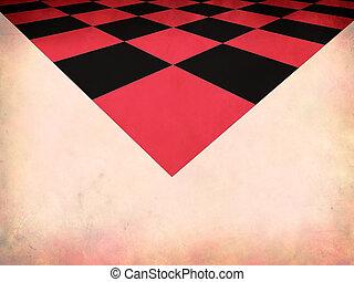 Grunge red checkered background