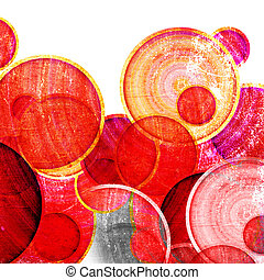 grunge red circles