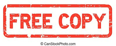 Grunge red free copy square rubber seal stamp on white background