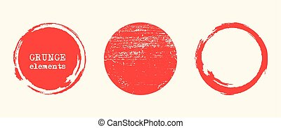 Grunge red shapes