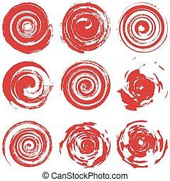 Grunge Red Spiral