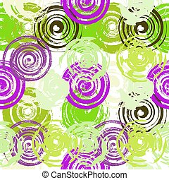 Grunge Red Spiral Seamless