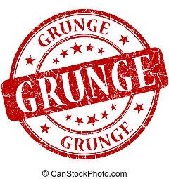 Grunge Red stamp