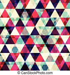 grunge red triangle seamless pattern