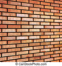 Grunge Red yellow beige tan fine brick wall texture background