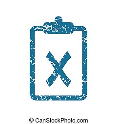 Grunge rejected document icon