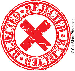 Grunge rejected rubber stamp, vecto